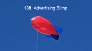 car dealers advertising blimp