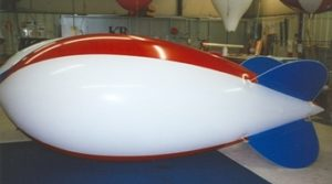 "red, white, blue color helium advertising blimps for sale in Wasco"" width="