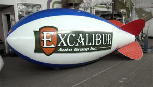 auto dealer blimps made of polyurethane, not pvc
