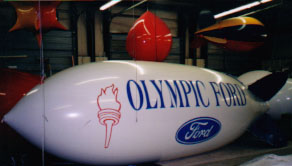 20 ft helium advertising blimp for Wasco auto dealers